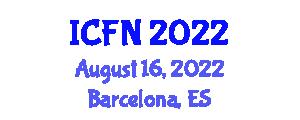 International Conference on Food Nanotechnology (ICFN) August 16, 2022 - Barcelona, Spain