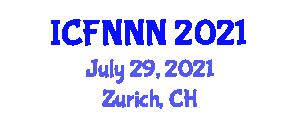 International Conference on Food Nanotechnology, Nanosafety and Nanotoxicology (ICFNNN) July 29, 2021 - Zurich, Switzerland