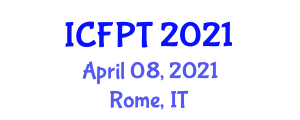 International Conference on Food Packaging Technologies (ICFPT) April 08, 2021 - Rome, Italy
