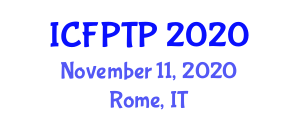 International Conference on Food Packaging Technology and Preservation (ICFPTP) November 11, 2020 - Rome, Italy