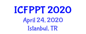International Conference on Food Preservation and Packaging Technologies (ICFPPT) April 24, 2020 - Istanbul, Turkey
