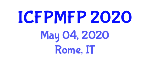 International Conference on Food Preservation Methods and Food Protection (ICFPMFP) May 04, 2020 - Rome, Italy