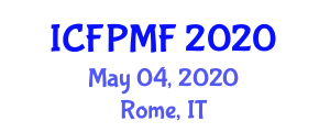 International Conference on Food Preservation Methods and Freezing (ICFPMF) May 04, 2020 - Rome, Italy