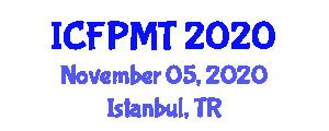 International Conference on Food Preservation Methods and Technology (ICFPMT) November 05, 2020 - Istanbul, Turkey