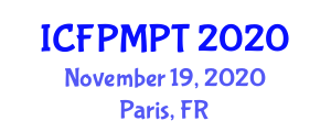 International Conference on Food Processing, Micronutrients and Packaging Technologies (ICFPMPT) November 19, 2020 - Paris, France