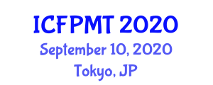 International Conference on Food Processing, Micronutrients and Technology (ICFPMT) September 10, 2020 - Tokyo, Japan