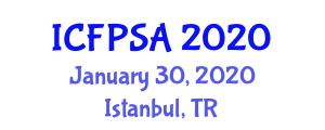 International Conference on Food Processing Systems and Analysis (ICFPSA) January 30, 2020 - Istanbul, Turkey
