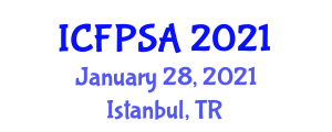 International Conference on Food Processing Systems and Analysis (ICFPSA) January 28, 2021 - Istanbul, Turkey