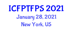 International Conference on Food Processing Technologies and Food Processing Strategies (ICFPTFPS) January 28, 2021 - New York, United States