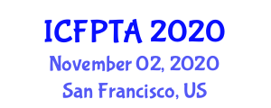 International Conference on Food Processing, Technology and Analysis (ICFPTA) November 02, 2020 - San Francisco, United States