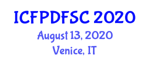 International Conference on Food Product Development, Food Safety and Control (ICFPDFSC) August 13, 2020 - Venice, Italy