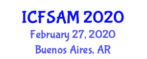International Conference on Food Science, Additives and Micronutrients (ICFSAM) February 27, 2020 - Buenos Aires, Argentina