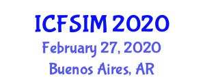 International Conference on Food Science, Ingredients and Micronutrients (ICFSIM) February 27, 2020 - Buenos Aires, Argentina