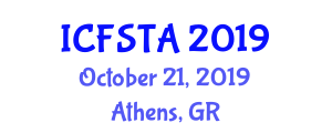 International Conference on Food Science, Technology and Application (ICFSTA) October 21, 2019 - Athens, Greece