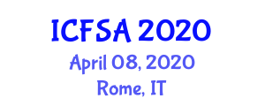 International Conference on Food Sciences and Additives (ICFSA) April 08, 2020 - Rome, Italy