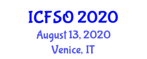 International Conference on Food Storage and Organizing (ICFSO) August 13, 2020 - Venice, Italy