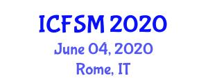 International Conference on Food Supplements and Microbiology (ICFSM) June 04, 2020 - Rome, Italy