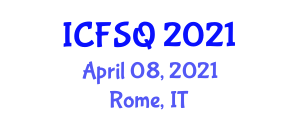 International Conference on Food Supplements and Quality (ICFSQ) April 08, 2021 - Rome, Italy