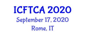 International Conference on Food Technology and Computer Applications (ICFTCA) September 17, 2020 - Rome, Italy