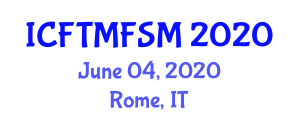 International Conference on Food Texture Modification and Food Structure Mapping (ICFTMFSM) June 04, 2020 - Rome, Italy