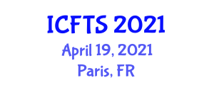 International Conference on Food Tourism and Sustainability (ICFTS) April 19, 2021 - Paris, France