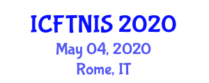 International Conference on Food Traceability and Near Infrared Spectroscopy (ICFTNIS) May 04, 2020 - Rome, Italy