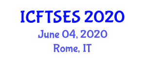 International Conference on Food Transportation Systems and Eutectic Systems (ICFTSES) June 04, 2020 - Rome, Italy
