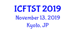 International Conference on Forest Transportation Systems and Techniques (ICFTST) November 13, 2019 - Kyoto, Japan