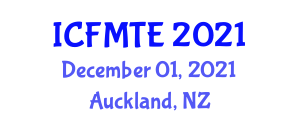 International Conference on Forestry Machinery Technology and Equipment (ICFMTE) December 01, 2021 - Auckland, New Zealand