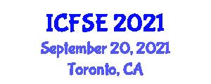 International Conference on Foundations of Social Evolution (ICFSE) September 20, 2021 - Toronto, Canada