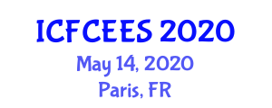 International Conference on Fuel Cell Electrochemistry and Energy Storage (ICFCEES) May 14, 2020 - Paris, France