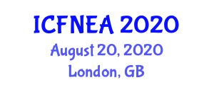 International Conference on Functional Nanofibers for Engineering Applications (ICFNEA) August 20, 2020 - London, United Kingdom