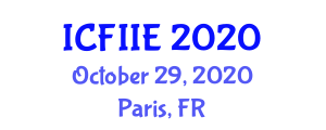 International Conference on Fuzzy Information and Information Engineering (ICFIIE) October 29, 2020 - Paris, France