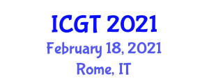 International Conference on Gastronomy in Tourism (ICGT) February 18, 2021 - Rome, Italy