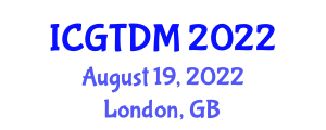 International Conference on Gastronomy, Tourism and Destination Marketing (ICGTDM) August 19, 2022 - London, United Kingdom