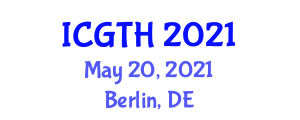 International Conference on Gastronomy Tourism and Hospitality (ICGTH) May 20, 2021 - Berlin, Germany