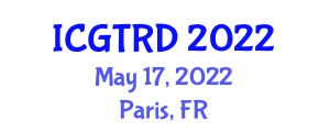 International Conference on Gastronomy Tourism and Regional Development (ICGTRD) May 17, 2022 - Paris, France