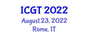 International Conference on Gastronomy Tourism (ICGT) August 23, 2022 - Rome, Italy