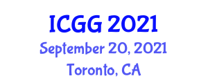 International Conference on Geochronology and Geography (ICGG) September 20, 2021 - Toronto, Canada