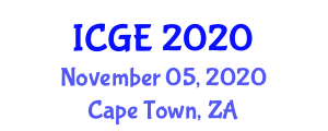 International Conference on Geography and Environment (ICGE) November 05, 2020 - Cape Town, South Africa