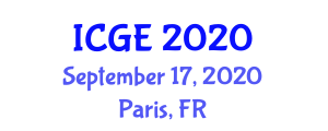 International Conference on Geography and Environment (ICGE) September 17, 2020 - Paris, France