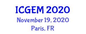 International Conference on Geography and Environmental Management (ICGEM) November 19, 2020 - Paris, France