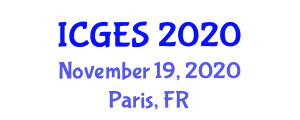 International Conference on Geography and Environmental Studies (ICGES) November 19, 2020 - Paris, France