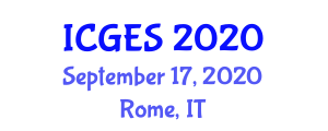 International Conference on Geography and Environmental Studies (ICGES) September 17, 2020 - Rome, Italy