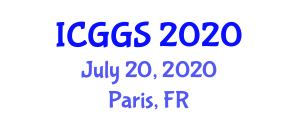 International Conference on Geography and Geoinformation Science (ICGGS) July 20, 2020 - Paris, France