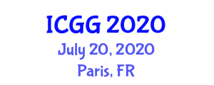International Conference on Geography and Geosciences (ICGG) July 20, 2020 - Paris, France