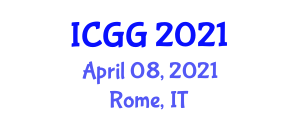 International Conference on Geography and Geosciences (ICGG) April 08, 2021 - Rome, Italy