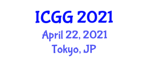 International Conference on Geography and Geosciences (ICGG) April 22, 2021 - Tokyo, Japan