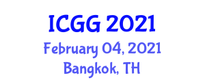 International Conference on Geography and Geosciences (ICGG) February 04, 2021 - Bangkok, Thailand