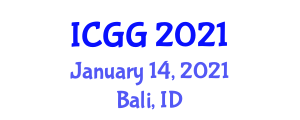 International Conference on Geography and Geosciences (ICGG) January 14, 2021 - Bali, Indonesia